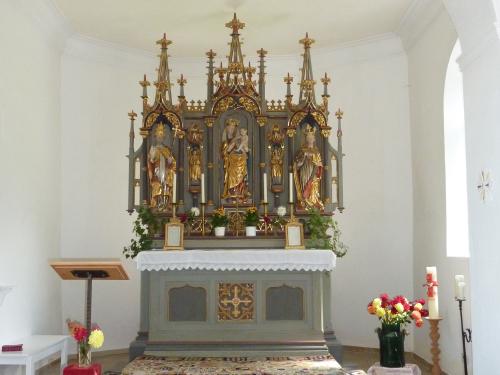 Altar der Kapelle St. Katharina | Berggasthof Sonne in Sonthofen