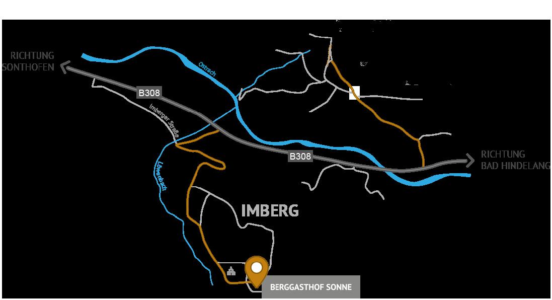 Anfahrtskizze Imberg